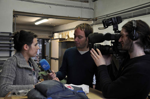 Intervieuwed by the Antwerp TV.