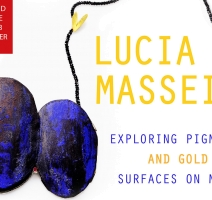 Exploring Pigments and Gold Leaf Surfaces on Metal. Workshop by Lucia Massei.